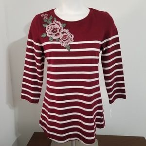 Charter Club burgundy top size small NWT